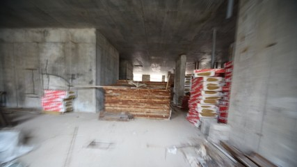 Driving downwards and upwards on stairs of house to building
