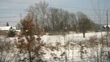 View from window of moving train from Vienna to Innsbruck