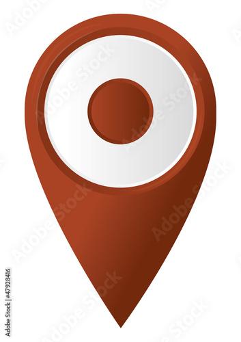 round 3D map pointer