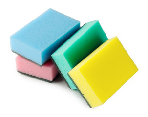 Colorful kitchen sponges