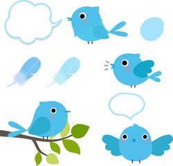 青い鳥のセット