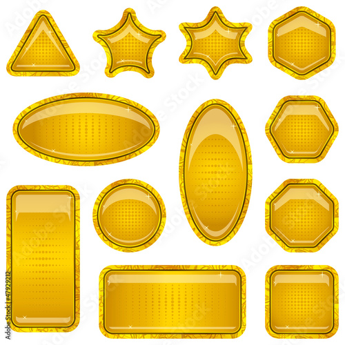 Set gold buttons