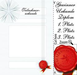 00312 Certificate Diploma Urkunde