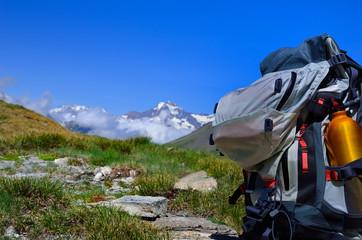 randonnée dans les alpes,sac à dos,vacances