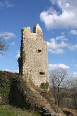 Medieval Castle Ruins at Kuessaberg