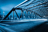 Fototapeta niebieski - most - Samochód