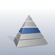 Pyramide mit 5 Säulen