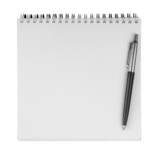 Fototapety  notebook textbook white blank paper