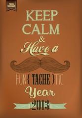 Vintage Happy New Year Calligraphic And Typographic Background