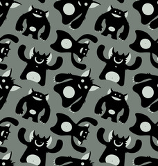 Monsters. Seamless Pattern