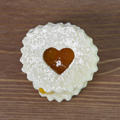 Linzer cookie with heart