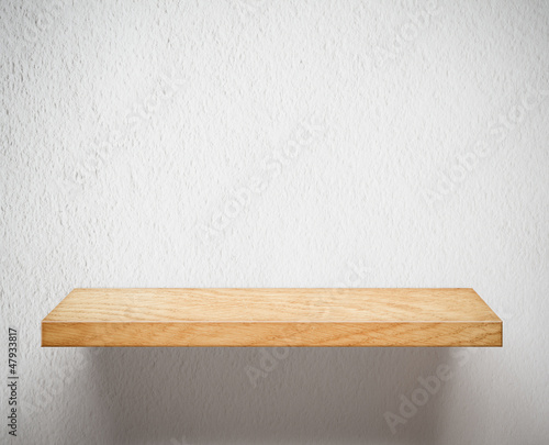 Metal empty shelves background