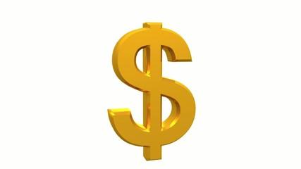 Gold 3D dollar symbol