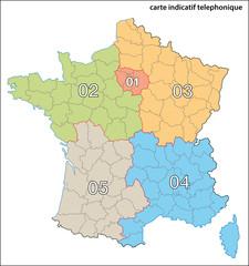 Frankreich Vorwahlbereiche