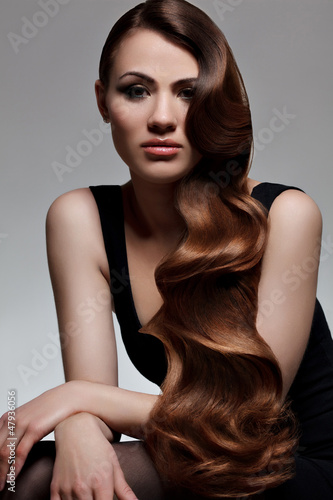 Long Wavy Hair. Good quality retouching.