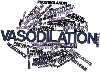 Word cloud for Vasodilation