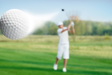 Golfer and golf ball