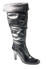 Black high boot