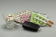 Tabletten im Verkehr