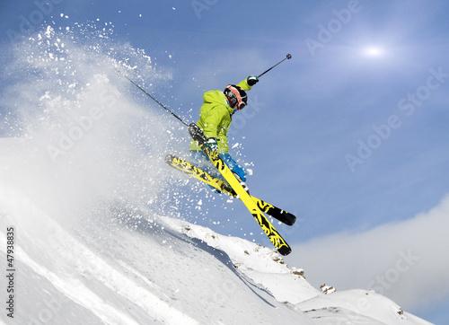 Fototapeten,skier,skilaufen,skiläufer,sprung