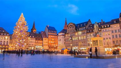 Marché de noël à Strasbourg, Alsace.