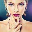 Fototapete Makeup - Bestehen aus - Frau