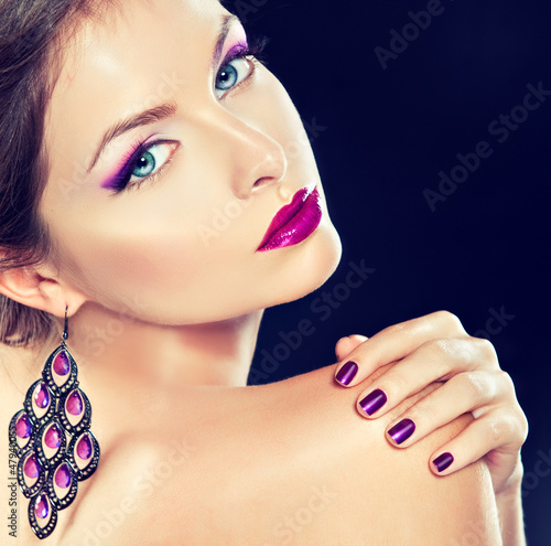 purple makeup