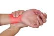 Acute pain in a woman Wrist.
