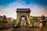 Chain Bridge over the River Danube in Budapest, Hungary - Fine Art prints
