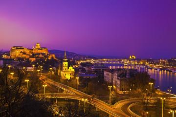 Gellert hill, Buda Castle, Parliament, Chain Bridge in Budapest,