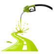 benzina che fa strada vector