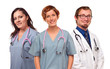 Group of Smiling Male and Female Doctors or Nurses