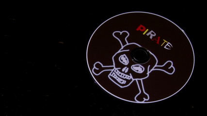 Broken pirated disc