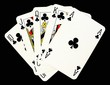Playing cards, royal flush