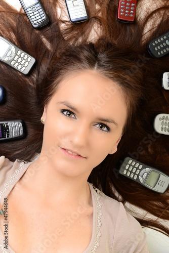 femme téléphonant