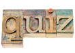 quiz word in wood type
