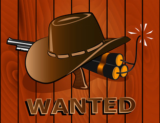 Wanted Poster. Wild west