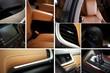 Modern Car Interior Collage