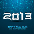Happy new year shiny 2013 colorful blue celebration dotted vecto
