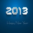 New year stylish 2013 blue colorful background