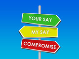 compromise - settling our differences in agreement poster