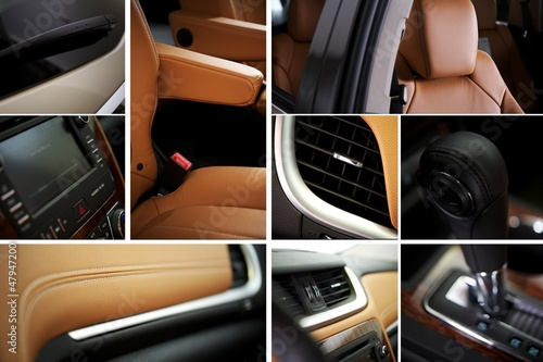 Modern Car Interior Collage