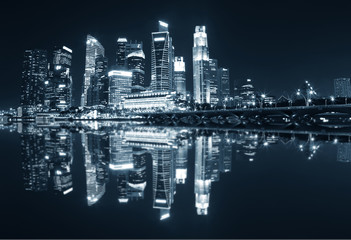 Reflection of Singapore City