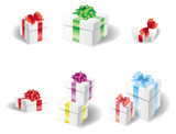Set of white present box