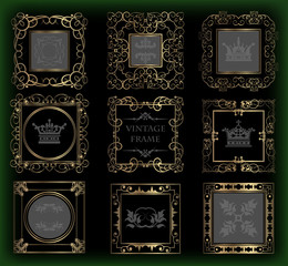 Vector set. Frame. Vintage Elements for your design.