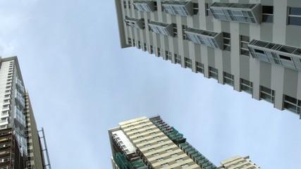 Many new buildings aspire upwards to sky