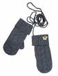 gray woolen mittens
