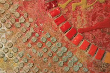 Sfondo materico con mosaico