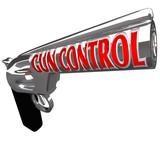 Gun Control Words Pistol Handgun Stop Violence poster