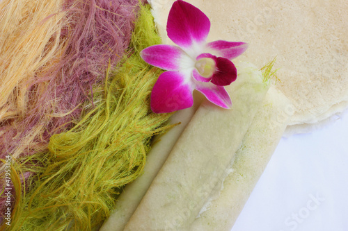 Thailand Silk pastry dough wrapped with roti